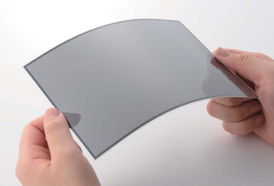 薄型ガラスセンサ(曲がる静電容量方式タッチパネル)