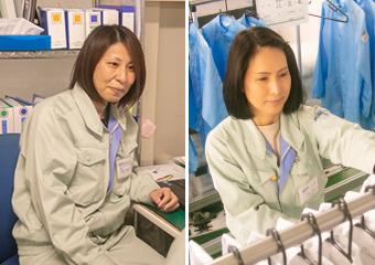 長岡事業所を支える3人の女性スタッフ